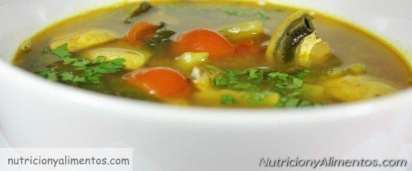 sopa de col y curry