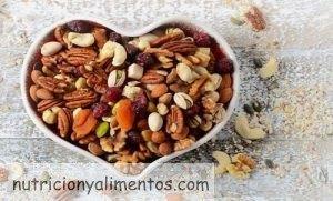 Frutos secos para el corazón y el colesterol