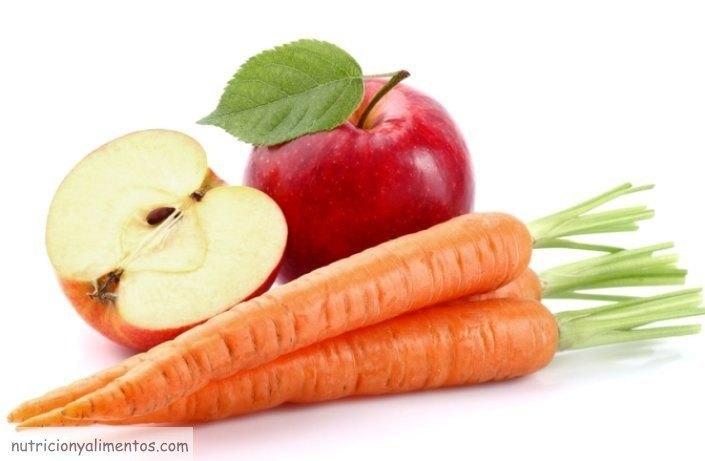 manzana y zanahoria envejecimiento